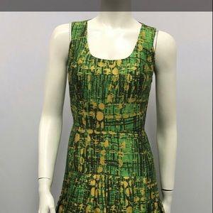 Authentic Oscar de la Renta silk Green dress